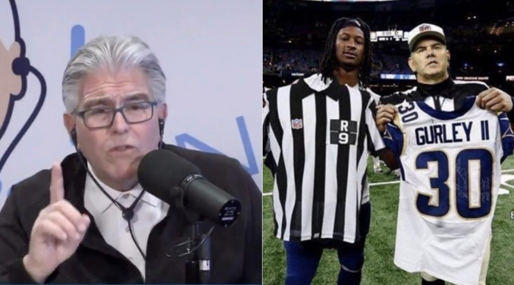 d7912470 Mike Francesa Seriously Believed The Photo Of Todd Gurley Swapping Jerseys  With a Ref Was Real (VIDEO)