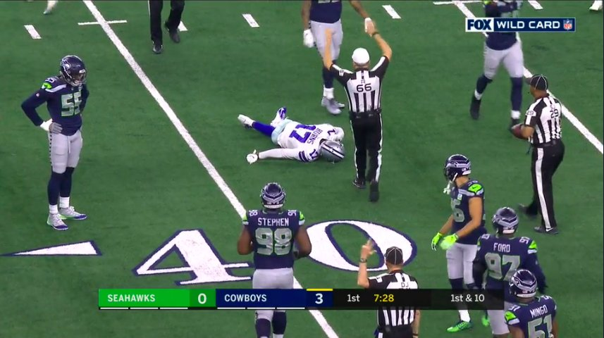 Cowboys' Allen Hurns appears to sustain severe leg injury