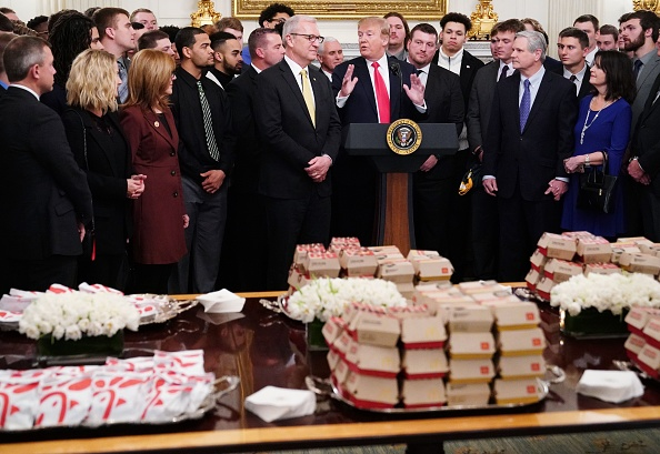 Trump fetes North Dakota State with fast food