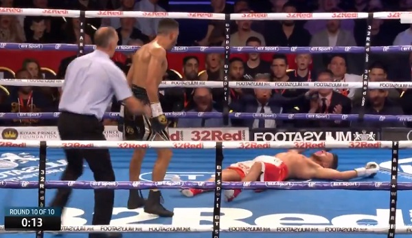 French boxer Sabri Sediri gets knocked out after taunting Sam Maxwell