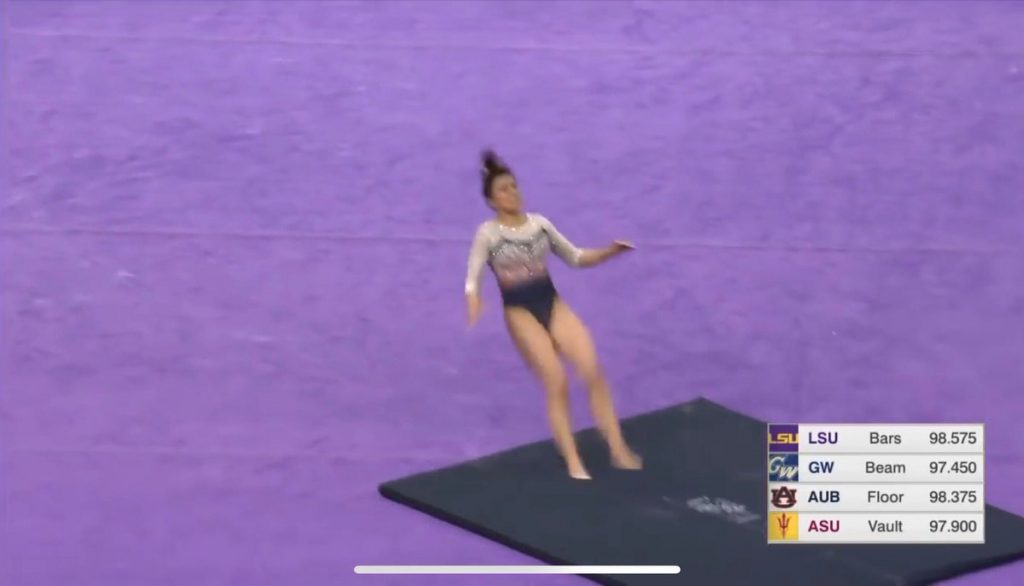 Auburn University gymnast breaks both legs in NCAA competition