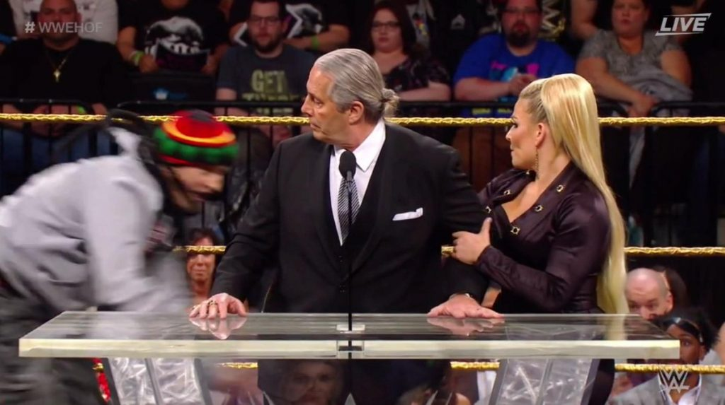'Fan' attempts to attack Bret Hart during WWE Hall of Fame speech