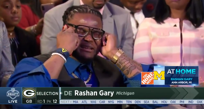 Image result for rashan gary draft