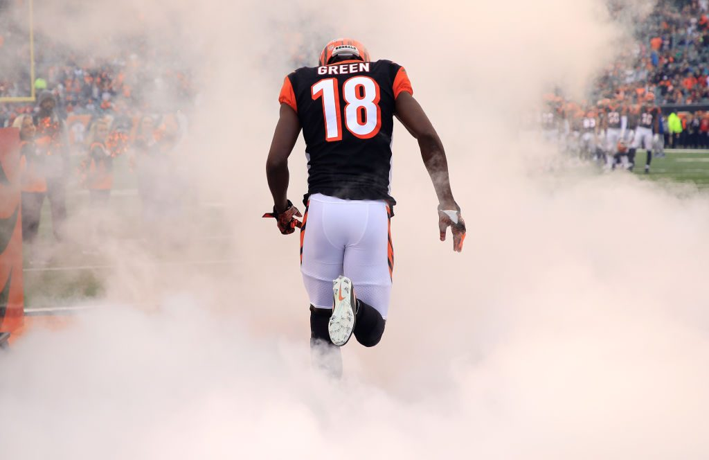 A.J. Green believed to have suffered sprained ankle