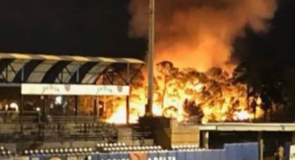 New York Mets minor league affiliate's fireworks display goes up in smoke