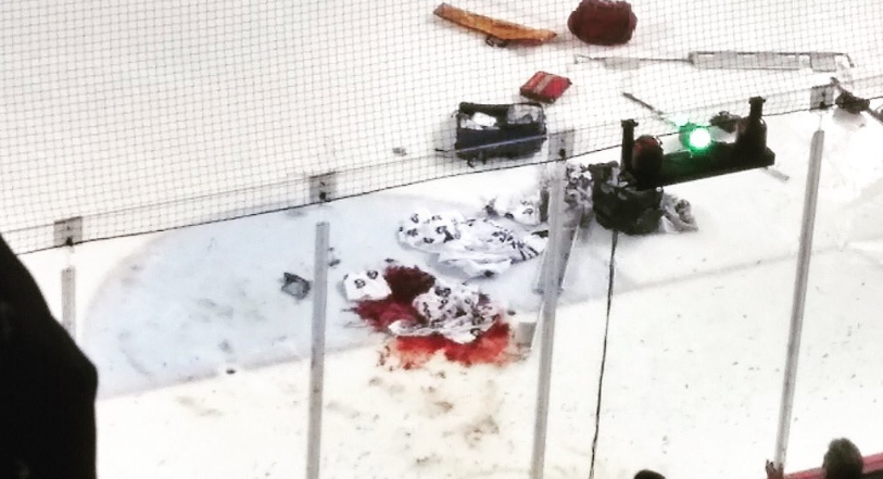 OHL game canceled after goalie suffers gruesome injury