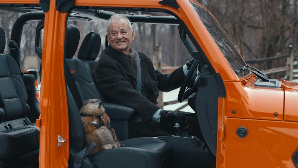 Bill Murray reprises 'Groundhog Day' role for Super Bowl commercial
