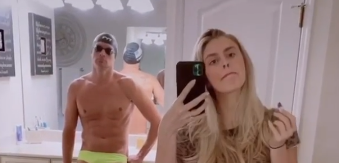 Ryan Lochte S Wife Went Full Topless During Flip The Switch Challenge Video Total Pro Sports