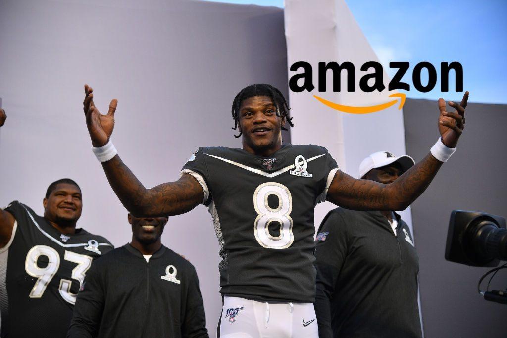 NFL MVP Lamar Jackson sues Amazon over unlicensed merchandise
