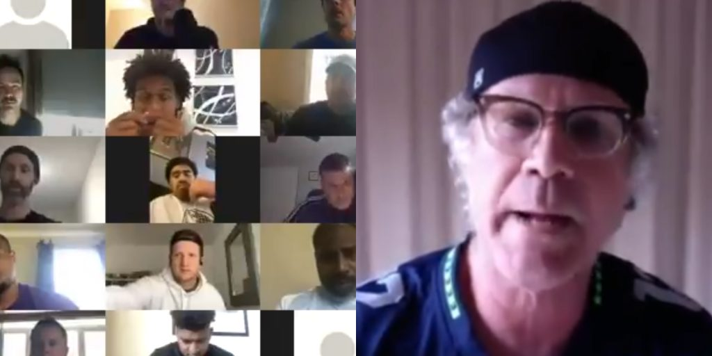 Will Ferrell poses as Seahawks player, crashes virtual team meeting