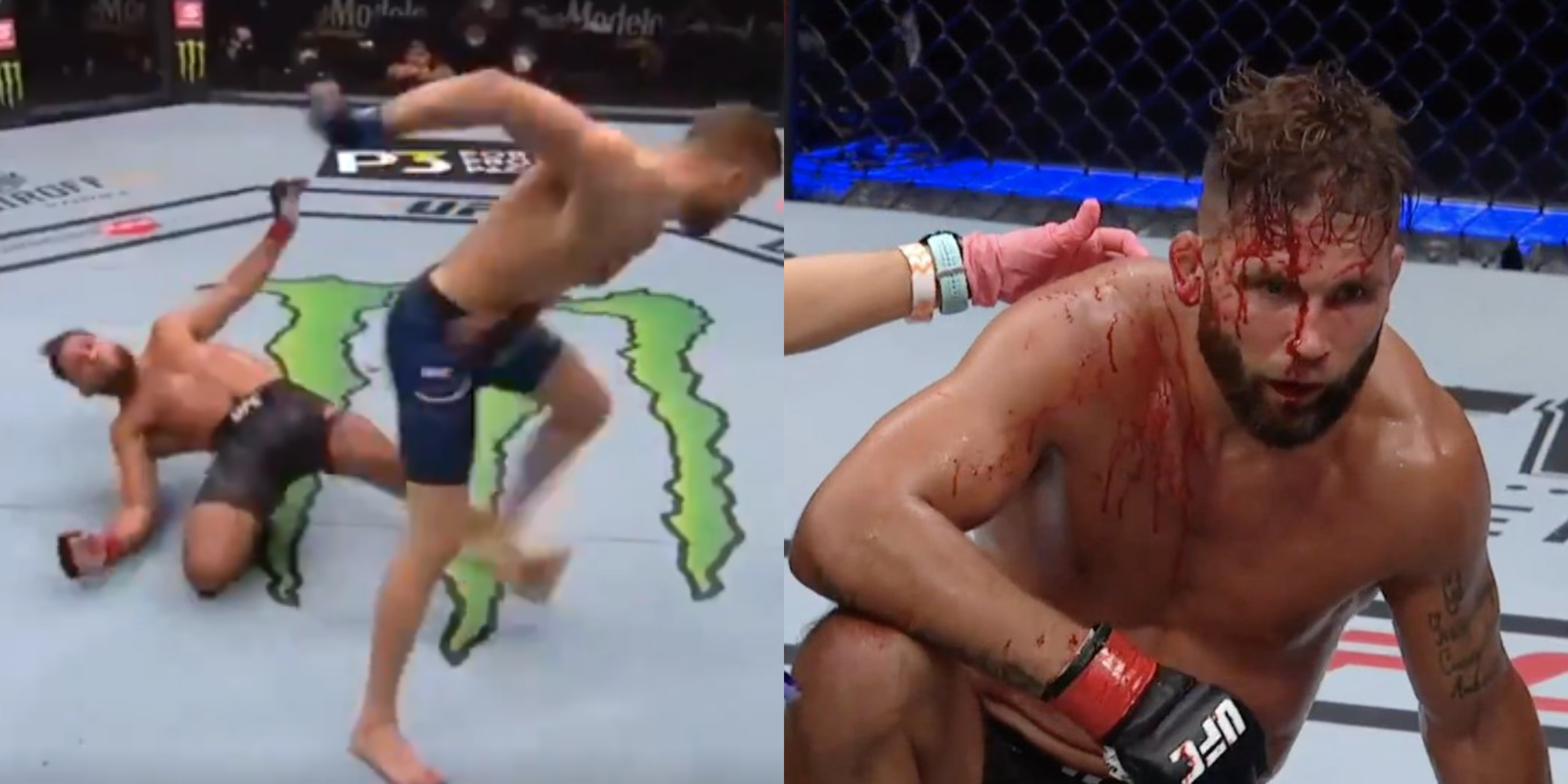 Calvin Kattar Drops Jeremy Stephens With Vicious Elbow In 2nd Round At Ufc 249 Video Total Pro Sports