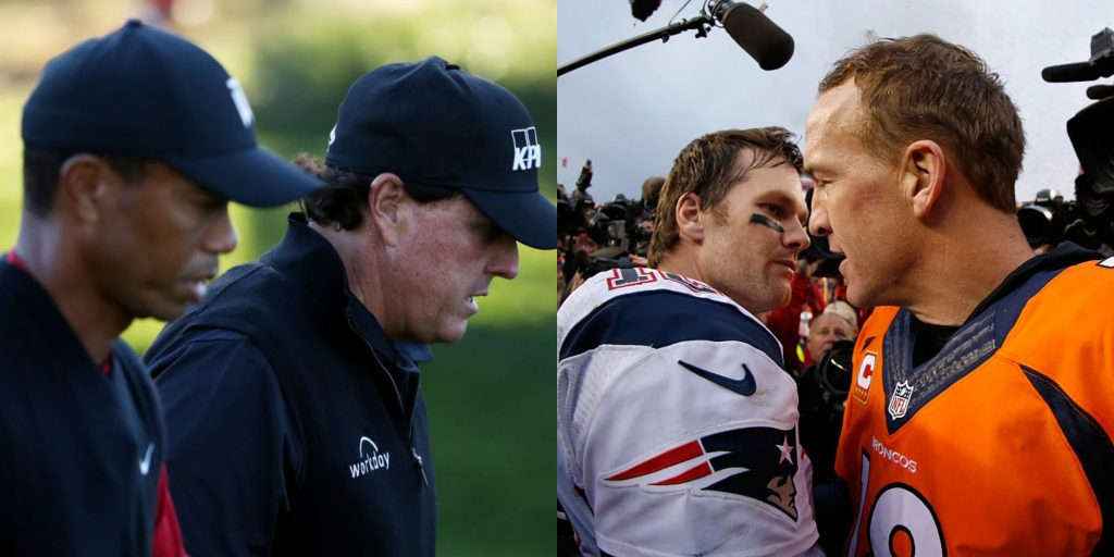 Woods, Mickelson, star QBs to donate $10 million from 'The Match'