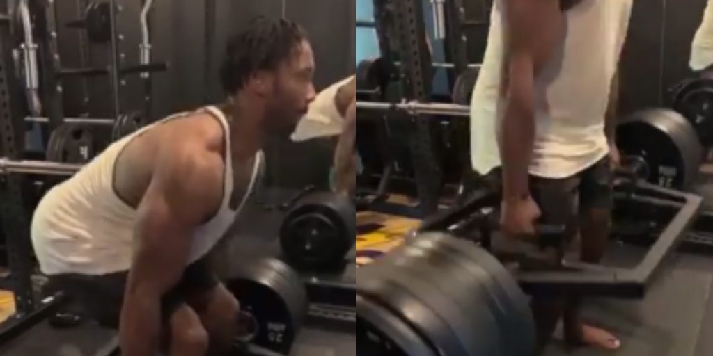 Browns De Myles Garrett Casually Deadlifts 655 Pounds With Ease Three Times Video Total Pro Sports