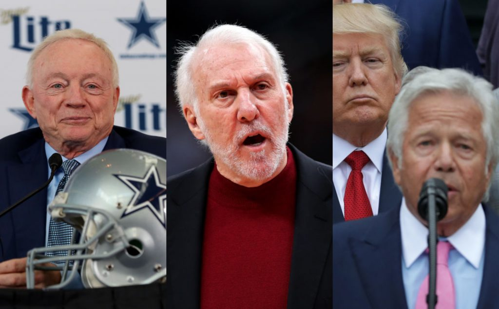 Spurs' Gregg Popovich takes aim at Roger Goodell, 'hypocritical' NFL owners