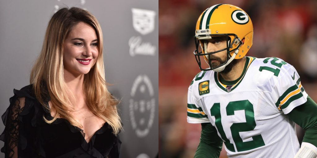 Heavy Rumors Suggesting Aaron Rodgers Is Now Dating Actress Shailene Woodley Tweets Total Pro Sports