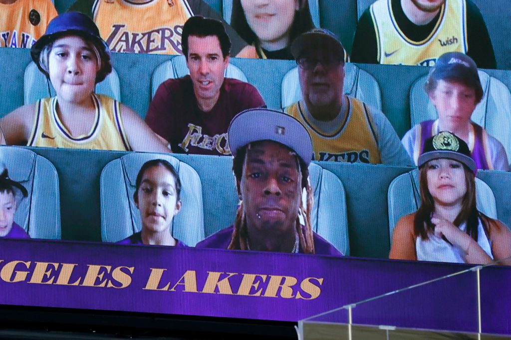 Virtual Lakers Fan Caught Shaving During Game 3 vs ...