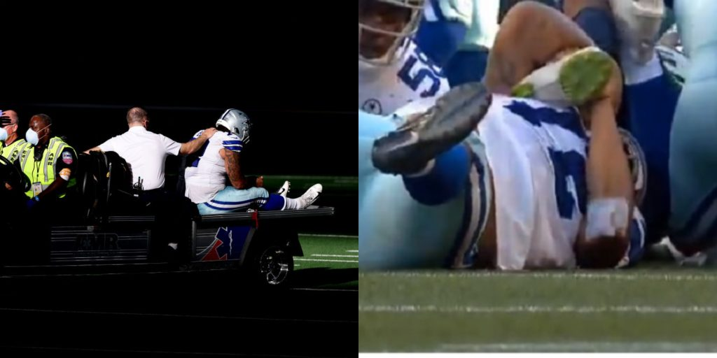 Cowboys QB Dak Prescott suffers awful-looking ankle injury, is carted off