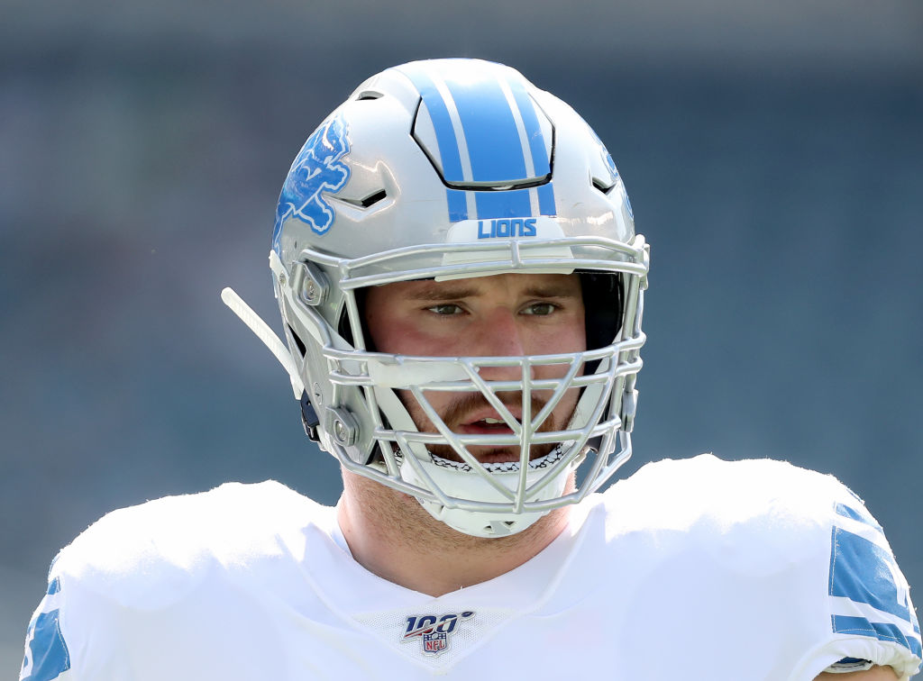 Lions' Ragnow played through fractured larynx vs. Packers
