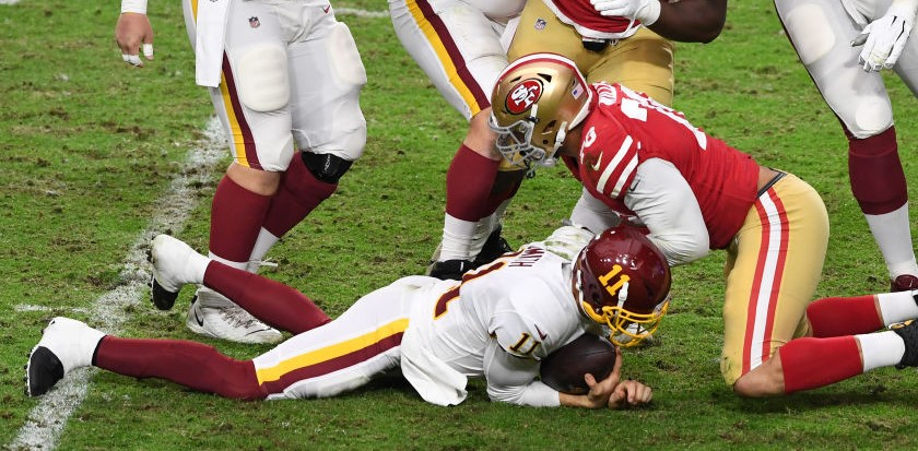 Ron Rivera Provides Update To Alex Smith After Leg Injury During Game Total Pro Sports