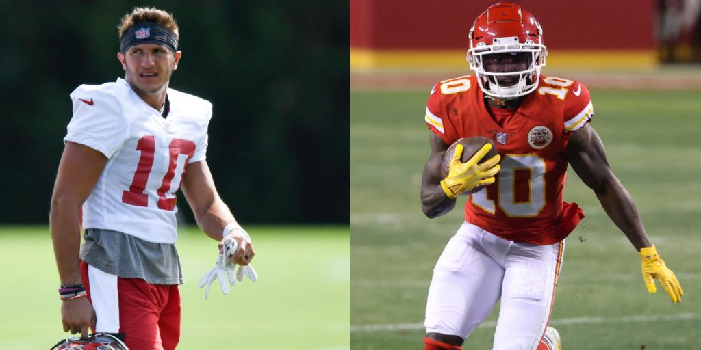Bucs wideout Scott Miller says he's faster than Tyreek Hill