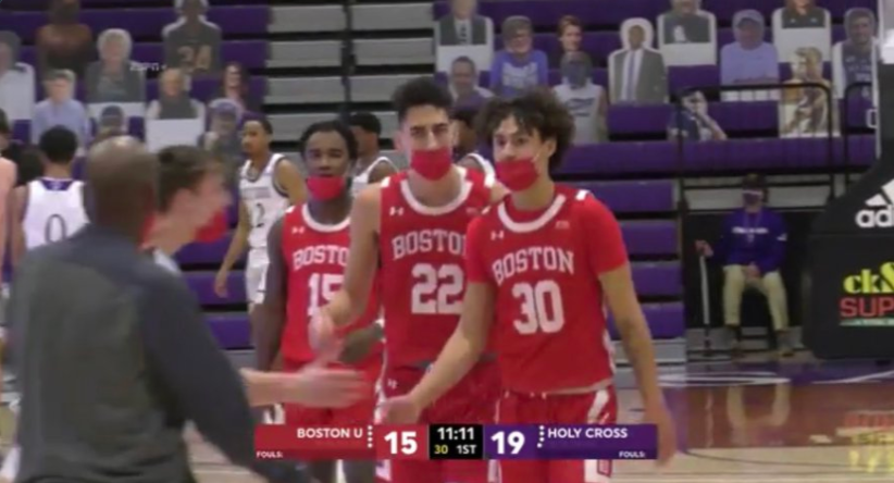 Boston, Holy Cross to wear masks for game