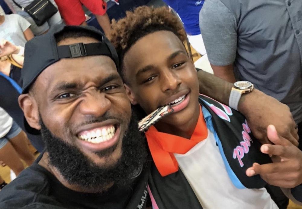 lebron and bronny selfie