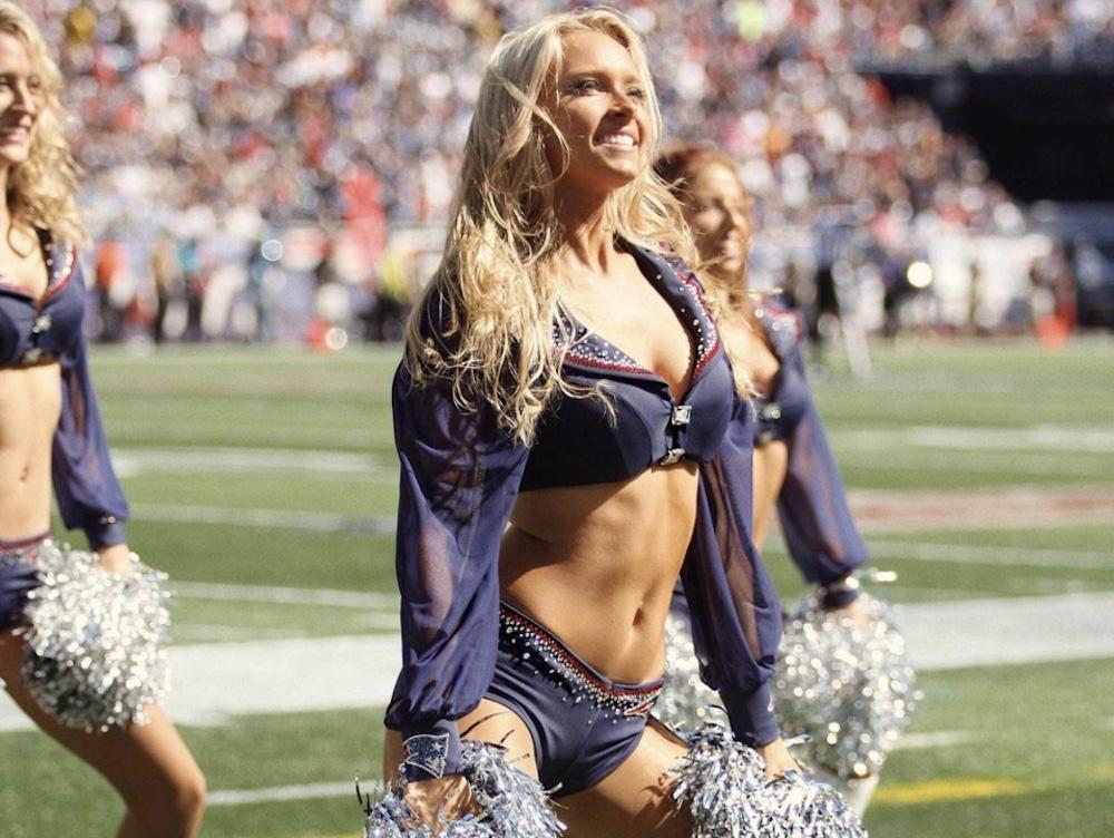 camille kostek patriots cheerleader
