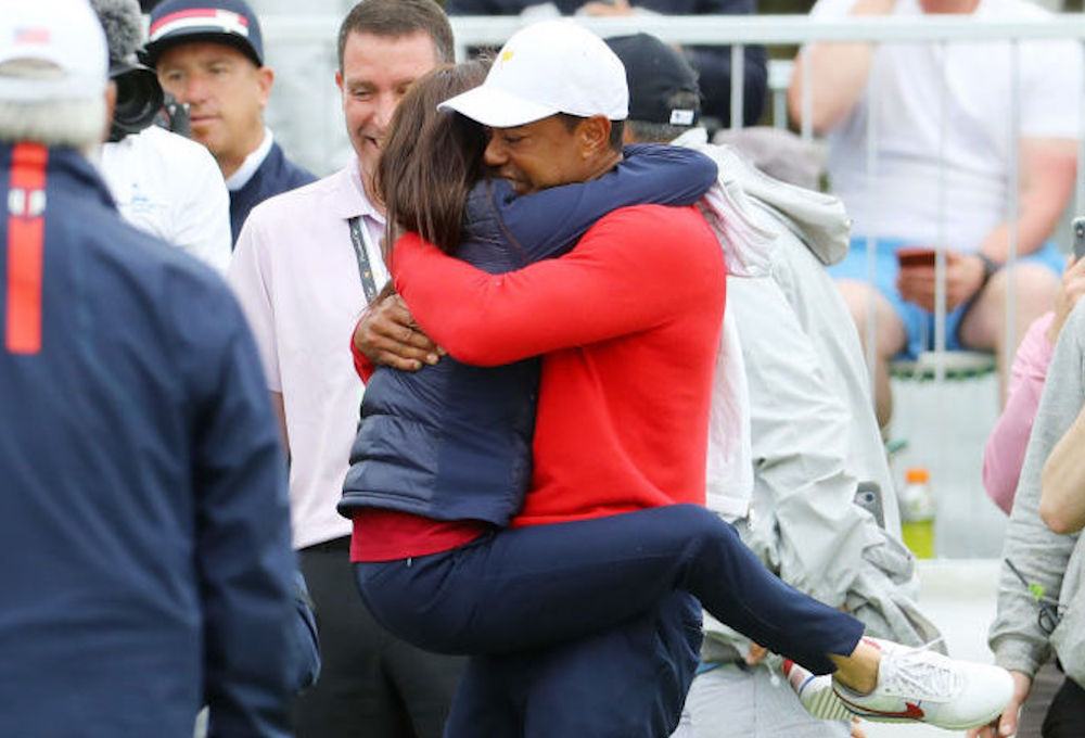 Erica Herman hugs her BF