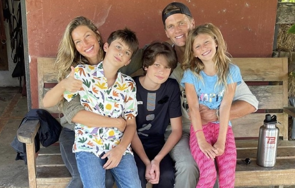 Gisele Bundchen and her family